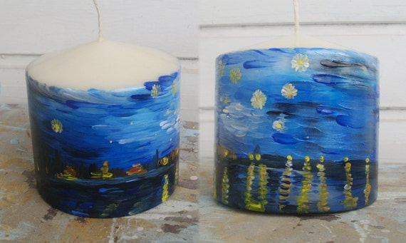 """Candle - """"Starry night over the Rhone"""""""