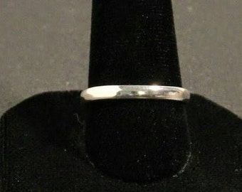 Sterling silver mirror finish stackable ring