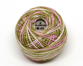 Valdani Pearl Cotton Thread Size 8 Variegated: #M63 Early Spring