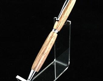Red oak slim line twist pen