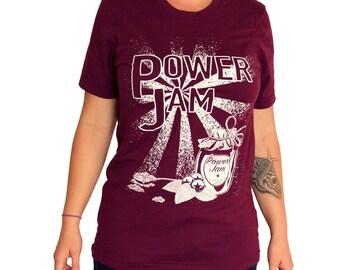 Power Jam roller derby T-shirt - Maroon