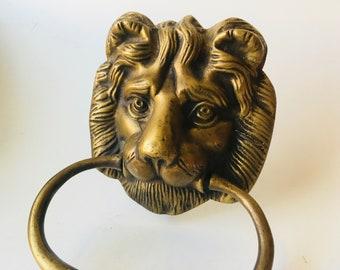 Vintage Lion Door Knocker/Door Knocker/Lion Door Decor/Traditional Door/Regal Door /Vintage Lion/Lion/Lion Head & Lion door knocker | Etsy