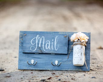 Entry Door Mail Organizer | Catch All- Gray