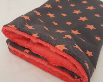 Snood, neck circumference, different sizes, oekotex and minkee velvet Jersey soft raised dots * stars *.