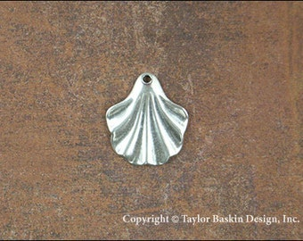 Antiqued Sterling Silver Plated Drop Earring Victorian Dapped Component (item 114 AS) - 6 Pieces