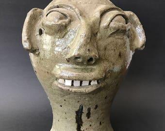 Burlon Craig Face Wig Stand NC Folk Pottery