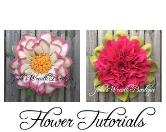 Wreath Tutorials, Apple Blossom  Tutorial, Marigold Tutorial, DIY Tutorial, Burlap Flower Tutorial, Video Tutorial, Digital Download