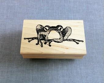 Frog Rubber Stamp