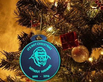 Harambe Christmas Ornament - It's Not Christmas Without Harambe - 3D Printed - Easter Gift