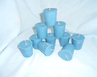Four, Blueberry Scented Votive Candles, Soy