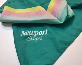 Vintage Newport  Scarf Advertising  28 inch Sq