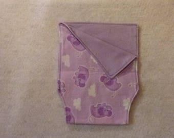 Burp Cloth Purple Elephants