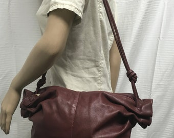 Burgundy leather purse,bag, shoulder bag, bags, purses