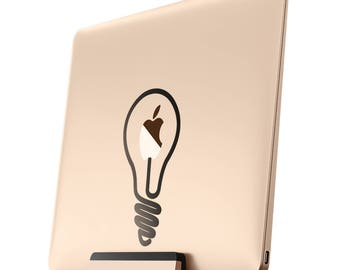 Light bulb Idea Lamp Decal Sticker for Macbooks and other Laptops, Apple decal sticker macbook idea vinyl retina macbook pro laptops, mac