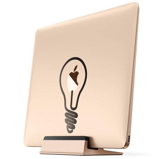 Light bulb Idea Lamp Decal Sticker, Apple decal sticker macbook idea vinyl retina macbook pro laptops, mac, Macbook Decal Sticker