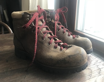 Vintage Women's Italian Leather Hiking Boots Size 8.5