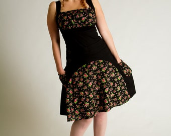 Flower dress///comfy dress///Vintage Liberty print///Summer women dress///Flowered robe///Midi dress///Smocks///BONNIE Liberty//MIMISAN