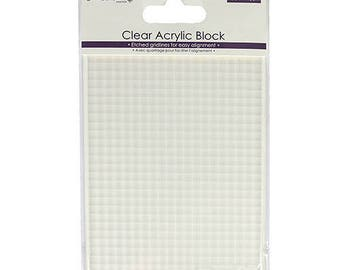 Block for stamp DOVECRAFT 10 x 15 cm clear acrylic stamps