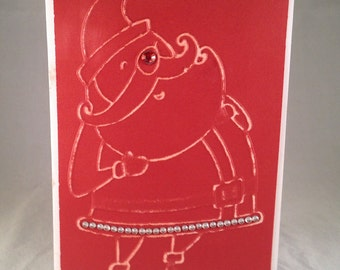 Set of 5 Santa Claus CLASSIC Christmas Cards