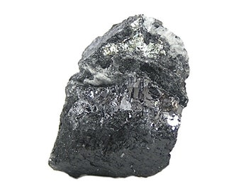 Altaite Very Rare Telluride Mineral Geology Specimen Silvery Metallic druse in rock matrix For the expert collector