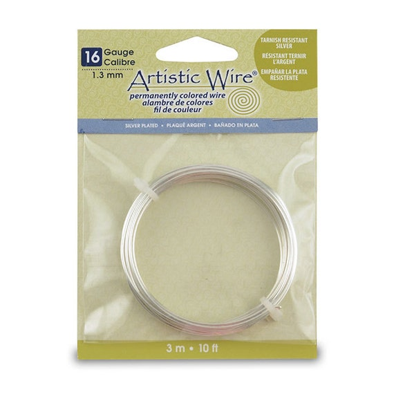 16 GA Tarnish-resistant silver 10FT, perfect for jewlery and wire work