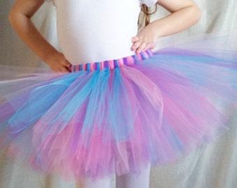 Purple Pink Turquoise Blue Tutu | Multicolor Tutu | Birthday Tutu | Party Tutu | Girls Tutu | Birthday Outfit | Princess Tutu | Costume Tutu