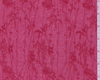 Crimson Red Floral Crepe Knit, Fabric By The Yard