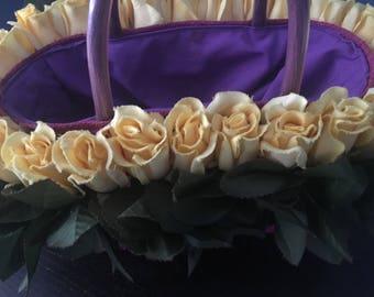OOAK Floral Yellow Roses Handbag