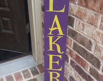 LA Lakers Wood Sign, Man Cave, Sports Decor, Housewarming Gift, NBA