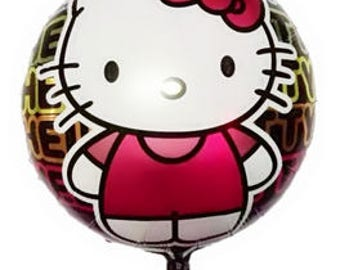 Hello Kitty Balloons | Hello Kitty Birthday Party Decor | Birthday Balloons