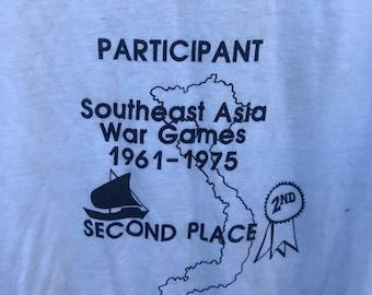 Vintage Vietnam War 2nd Place Novelty Joke Graphic T Shirt sz XL