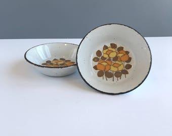 Vintage Midwinter Ltd. Stonehenge Coupe Bowls, Set of 2 Vintage Midwinter Stonehenge Summer Bowls