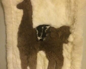 Amazing plush vintage alpaca wall hanging/Southwestern Decor'/