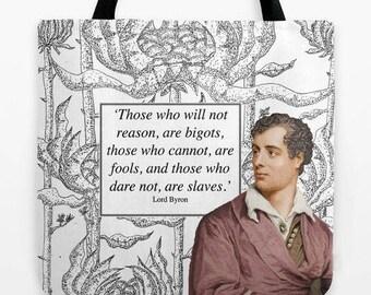 Lord Byron Tote Bag