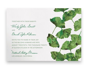 Garden Wedding Invitation/Wedding Invitation Suite/Wedding Invites/Invitation Suites/Green/Watercolor/Script/Floral/Greenery/Summer/Spring