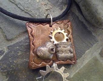 Steampunk pendant, Steampunk necklace