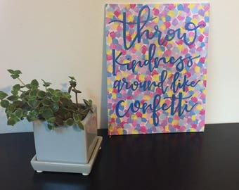 Kindness Quote Wall Art