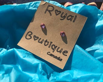 Genuine Swarovski Pink Crystal Earrings 5mm