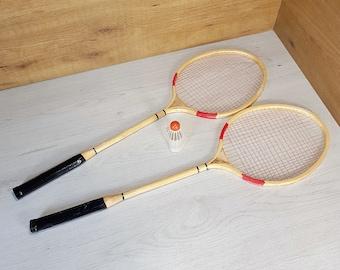 Badminton rackets, Vintage badminton rackets, Badminton rackets set of 2, Wooden tennis racket, Pair of badminton racquets, Tennis racket