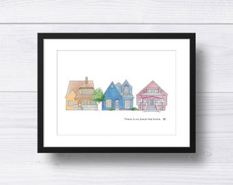 There Is No Place like Home Wall Art Craftsmen Houses