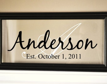 Personalized Family Name Sign Picture Frame 11x21