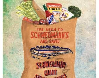 Louisiana Schwegmanns Grocery Store Bag Print from Original Art