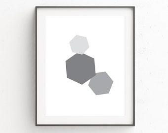 Geometric Wall Art, Minimalist Poster, Office Wall Art, Geometric Art, Nordic Wall Art,  Scandinavian Art, Printable Wall Art, Digital Art