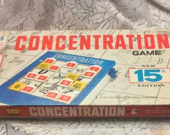Vintage 1970 15th edition Milton Bradley Concentration game.