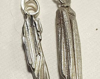 Pewter Broom Cast Earrings 3