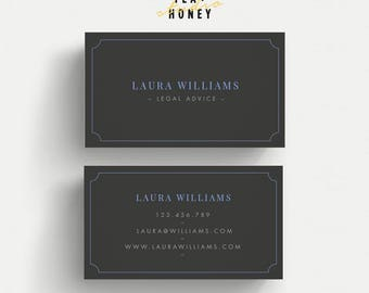 Elegant business card, minimal name card, black business card, Calling Card Lawyer, Legal Business, traditional business card, modern design