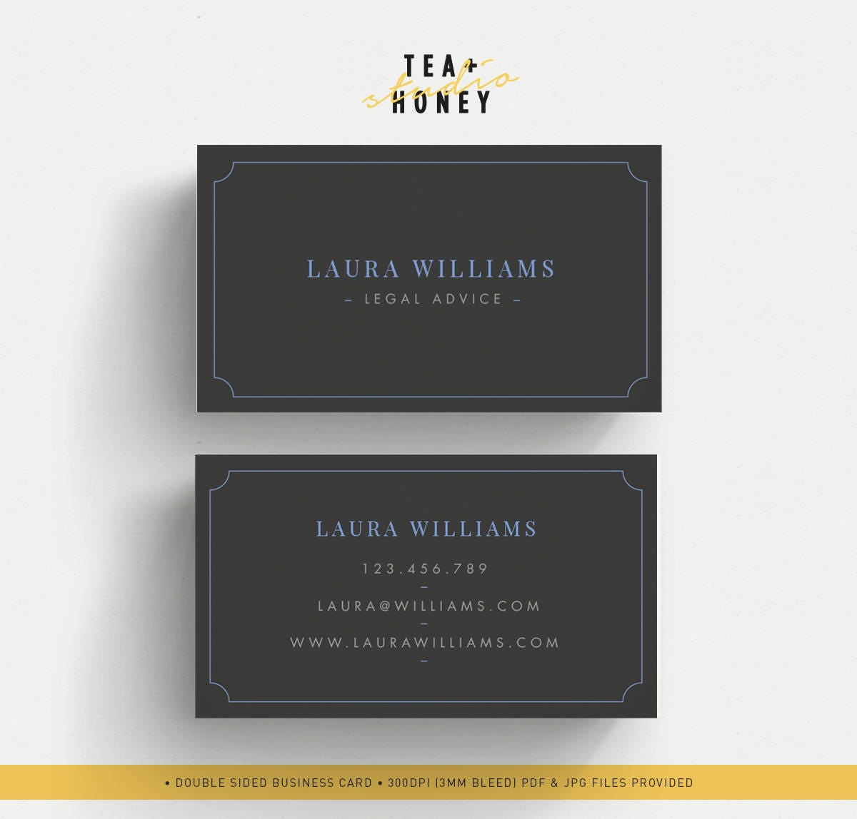Elegant business card minimal name card black business card