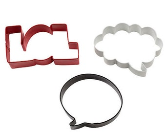 LOL, Talk and Bubble Cookie Cutter Set - Wilton Cookie Cutters - Cookie Making Supplies - Baking Supplies