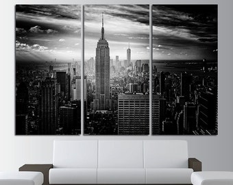 Empire State Building Large Canvas Print Wall Art New York Wall Art New York Canvas Art New York Wall Art Cityscape Canvas Wall Art Decor
