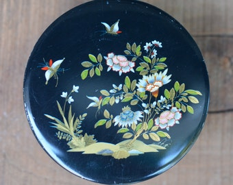 Small Asian Inspired VINTAGE Candy Tin - Made in England ... Up-cycled Gift Box